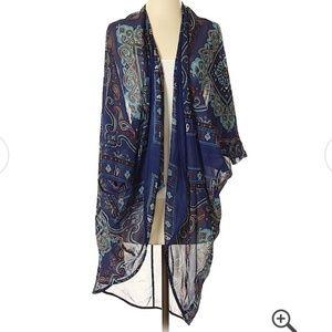 Haute Monde Chiffon Boho high low kimono duster